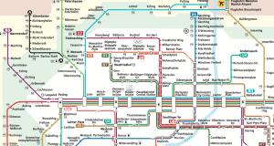 Munich subway underground metro plan